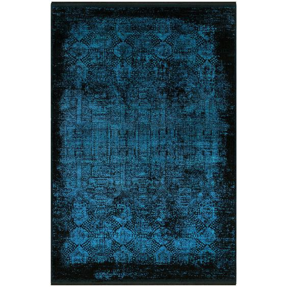 Dieter Knoll Vintage-Teppich 200/290 cm Blau , Textil , Abstraktes , 200x290 cm