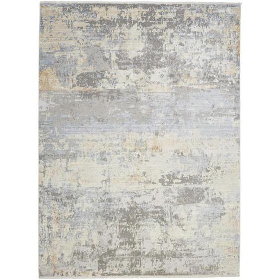 Dieter Knoll Vintage-Teppich 200/290 cm Grau, Currygelb , Textil , Abstraktes , 200x290 cm
