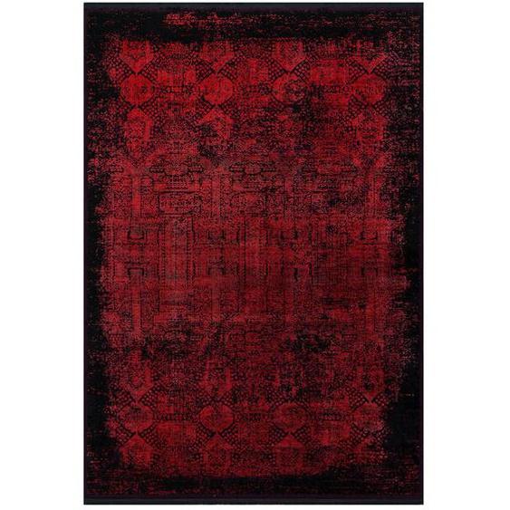 Dieter Knoll Vintage-Teppich 200/290 cm Rot , Textil , Abstraktes , 200 cm