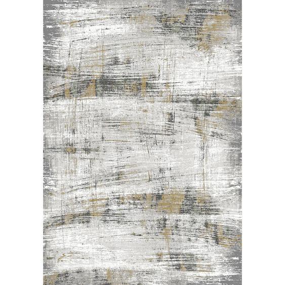Dieter Knoll Webteppich 80/150 cm Grau , Textil , Abstraktes , 80 cm