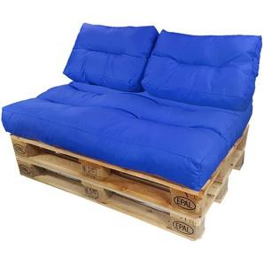 Diluma Palettenkissen Lounge Set 3 teilig Dunkelblau