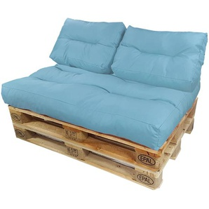 Diluma Palettenkissen Lounge Summer 3 teilig in Bleu