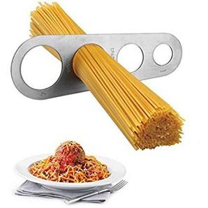 DingSheng Spaghetti-Messgerät aus Edelstahl, Spaghetti-Messung, Pasta, Portionskontrolle, Küchenwerkzeug Spaghetti-Nudel, 4 Löcher, Portionskontrolle