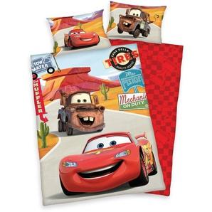Disney Kinderbettwäsche »Cars on Road«, 40x60 cm, hautfreundlich, pflegeleicht, rot