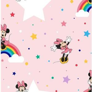 Disney  Papiertapete  Regenbogen Minnie Rosa