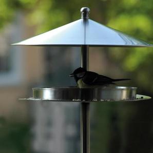 Dobar-Design-Vogelfutterhaus »Silberglanz« - Silberfarben - Edelstahl -