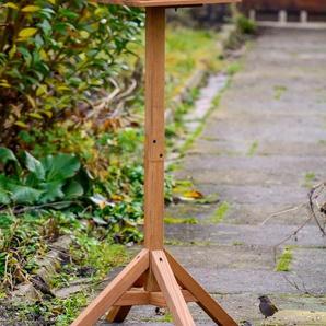 dobar green label Vogelhaus Tirol, BxTxH: 37x37x117 cm, Kiefer, inkl. Ständer B/H/T: 37 cm x 117 braun Vogelhäuser Vogeltränken Gartendekoration Gartenmöbel Gartendeko