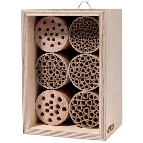 dobar Insektenhotel, Wildbienen-Nisthilfe mit 6 Füllungen, stabile Konstruktion, mit Haken