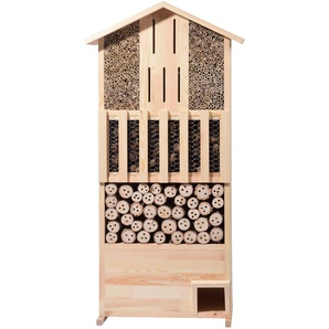 dobar XXL Insektenhotel-Wand mit integriertem Igelhaus, Natur, 22697e