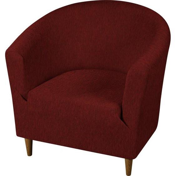 Dohle&Menk Sesselhusse Teide, monoelastische Stretchware mit hohem Baumwollanteil Clubsesselhusse rot Sesselhussen Hussen Überwürfe