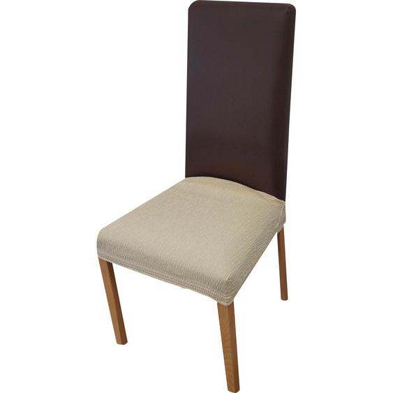 Dohle&Menk Sitzflächenhusse Teide, monoelastische Stretchware mit hohem Baumwollanteil Mischgewebe beige Sofahussen Hussen Überwürfe
