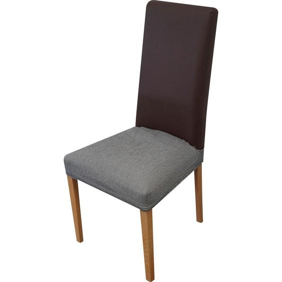 Dohle&Menk Sitzflächenhusse Teide, monoelastische Stretchware mit hohem Baumwollanteil Mischgewebe grau Sofahussen Hussen Überwürfe