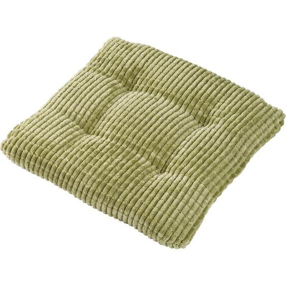 Dohle&Menk Sitzkissen Mechthild, mit Steppung 1x 41x42 cm, Polyester, 5,5 cm grün Stuhlkissen Kissen Kopfkissen