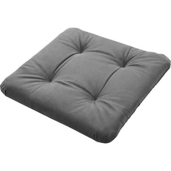Dohle&Menk Sitzkissen Riviera, mit dezenter Steppung 1x 42x42 cm, Polyester, 6 cm grau Stuhlkissen Kissen Kopfkissen