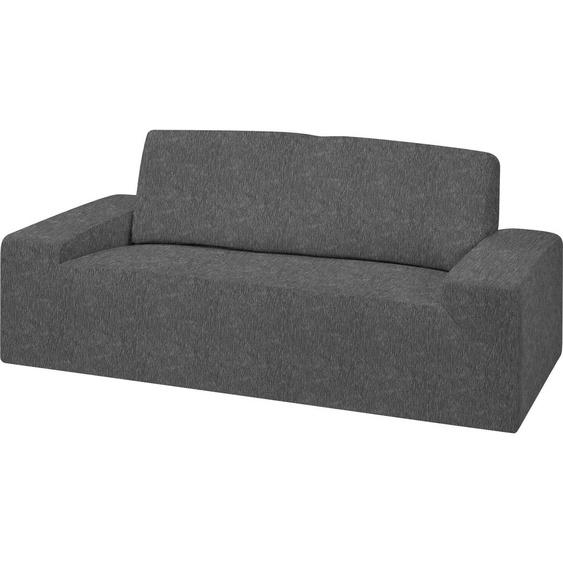Dohle&Menk Sofahusse Teide, monoelastische Stretchware mit hohem Baumwollanteil 2-Sitzer grau Sofahussen Hussen Überwürfe