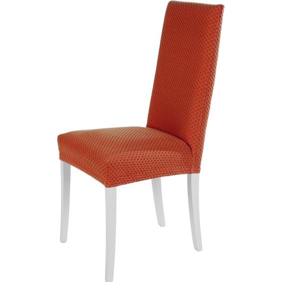 Dohle&Menk Stuhlhusse Sucre, mit feinem Muster – kurz orange Stuhlhussen Hussen Überwürfe