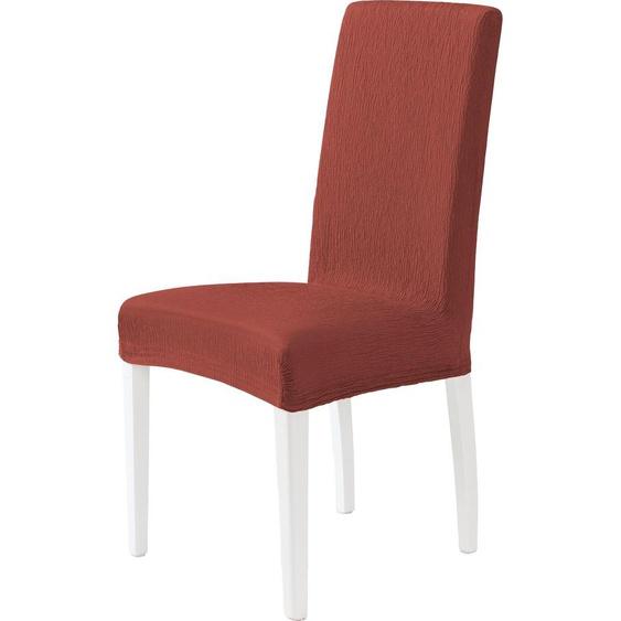 Dohle&Menk Stuhlhusse Teide, monoelastische Stretchware mit hohem Baumwollanteil – kurz rot Stuhlhussen Hussen Überwürfe