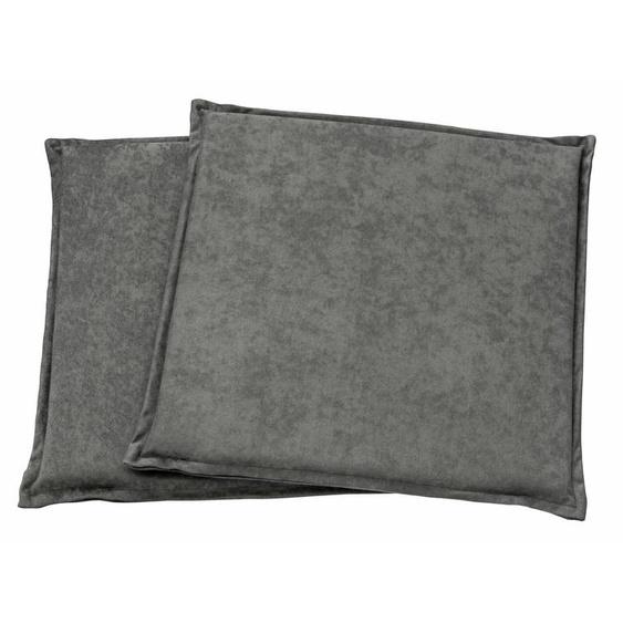 Dohle&Menk Stuhlkissen Alova, in schlichter Optik (2 Stück) 2x 40x40 cm, Polyester, 3 cm grau Sitzkissen Kissen Kopfkissen