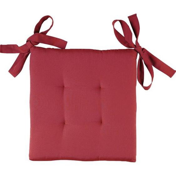 Dohle&Menk Stuhlkissen Doris, dezent gesteppt 1x 40x40 cm, Baumwolle-Polyester, 5 cm rot Sitzkissen Kissen Kopfkissen