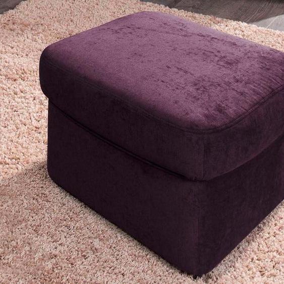 DOMO collection Hocker Luxus-Microfaser lila Polsterhocker Nachhaltige Möbel