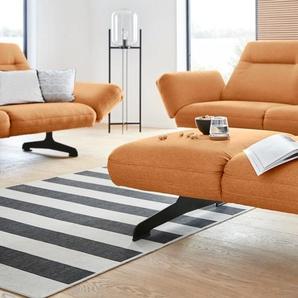 DOMO collection Hocker 0, Struktur fein goldfarben Polsterhocker Sessel und Sofas Couches