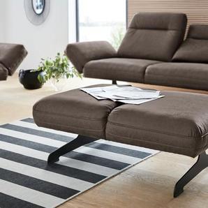 DOMO collection Hocker 0, Luxus-Microfaser Lederoptik braun Polsterhocker Sessel und Sofas Couches