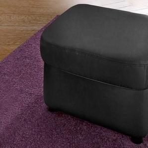 DOMO collection Hocker, FSC®-zertifiziert, schwarz, Material Kunstleder, mit Schlaffunktion, frei stellbar