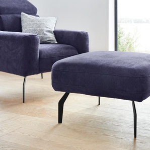 DOMO collection Hocker 0, Chenille blau Polsterhocker Sessel und Sofas Couches