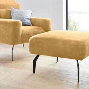 DOMO collection Hocker 0, Chenille gelb Polsterhocker Sessel und Sofas Couches