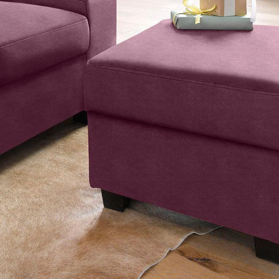 DOMO collection Hocker Microfaser PRIMABELLE® lila Polsterhocker Nachhaltige Möbel