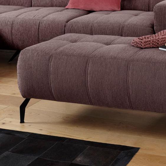DOMO collection Hocker Struktur weich rot Polsterhocker Nachhaltige Möbel