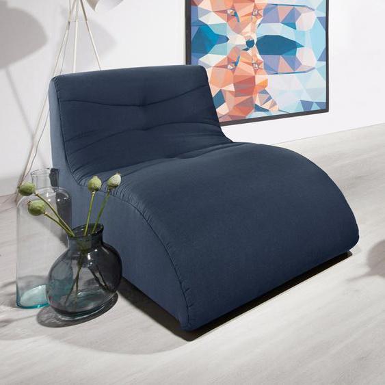 DOMO collection Relaxliege Struktur fein, 85 cm blau Relaxliegen Sessel Sofas