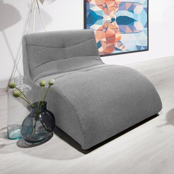 DOMO collection Relaxliege Struktur, 85 cm silberfarben Relaxliegen Sessel Sofas