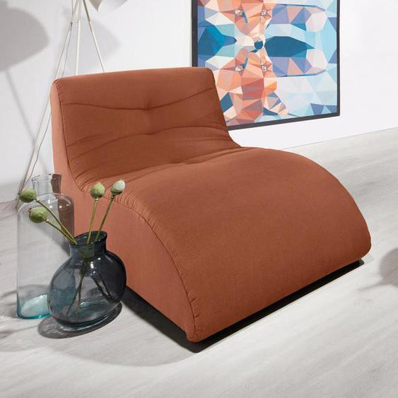 DOMO collection Relaxliege B/H/T: 85 cm x 79 163 cm, Struktur fein orange Relaxliegen Sessel