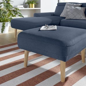 DOMO collection Sitzhocker 0, Struktur fein blau Hocker
