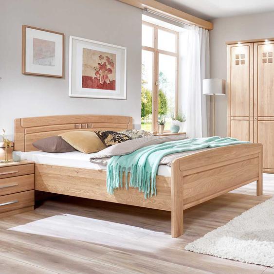 Doppelbett aus Eiche teilmassiv Made in Germany