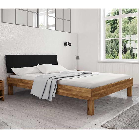 Doppelbett in Wildeichefarben Schwarz