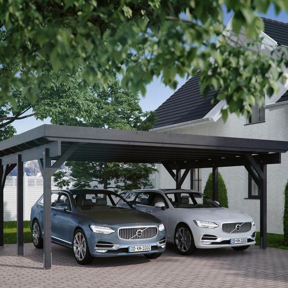 Kiehn-Holz Doppelcarport »KH 310 / KH 311«, 213 cm Einfahrtshöhe, Stahl-Dach, versch. Farben