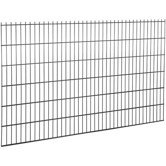 Doppelstabmatte Stahl anthrazit 123 x 200 cm