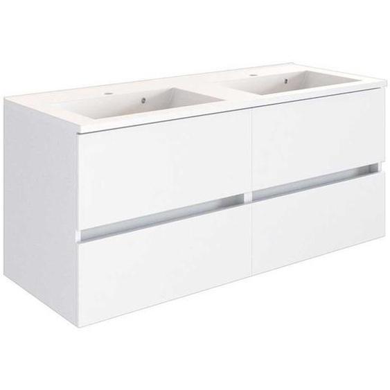 Doppelwaschplatz in Weiß Made in Germany