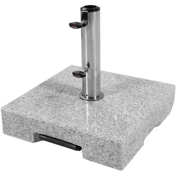 Doppler Sonnenschirmständer Granit Grau , Stein , 45x10x45 cm