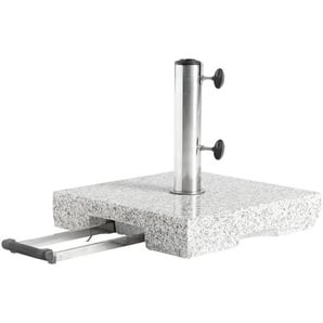 SONNENSCHIRMSTÄNDER Granit Grau