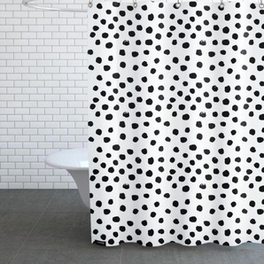 Dots Black And White-Duschvorhang