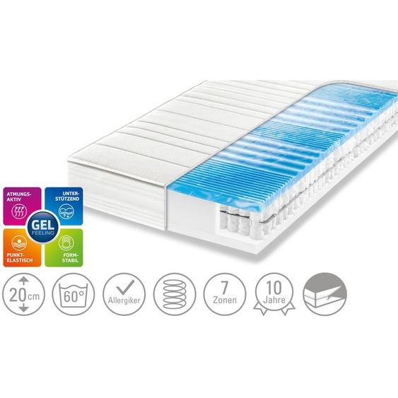 Dreamer eXpress 7-Zonen-Gelart-Tonnentaschenfederkernmatratze  Flexo 3 ¦ weiß
