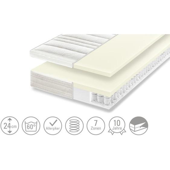 Dreamer eXpress 7-Zonen-Latex-Tonnentaschenfederkernmatraze  Senso 3 - weiß | Möbel Kraft