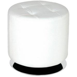 Drehhocker - weiß - 38 cm | Möbel Kraft