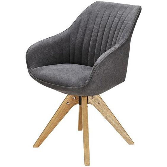 Drehsessel - schwarz - 60 cm - 83 cm - 65 cm | Möbel Kraft