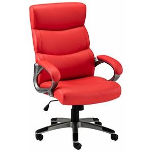 Bürostuhl mit gepolsterten Armlehnen »Sabine«, rot,