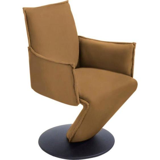 K+W Komfort & Wohnen Drehstuhl  Sessel mit federnder Sitzschale, gelb »Drive«, KW Komfort & Wohnen»Drive«