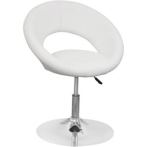 Drehstuhl, weiß, Material Metall / Kunstleder, , Pflegeleichtes Kunstleder